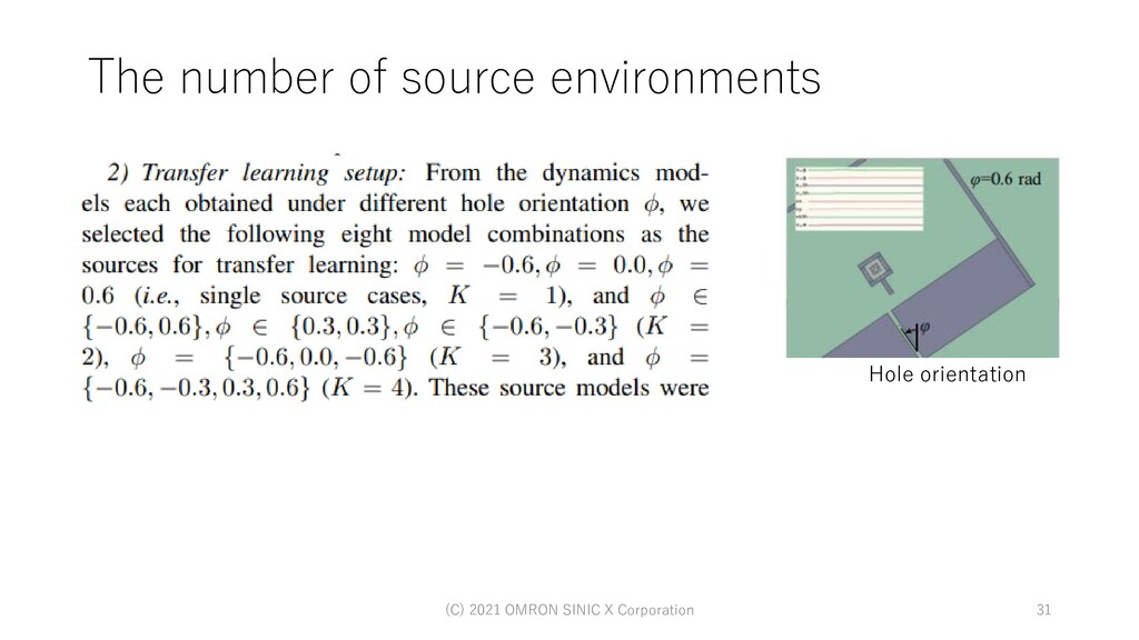 The number of source environments (C) 2021 OMRO...