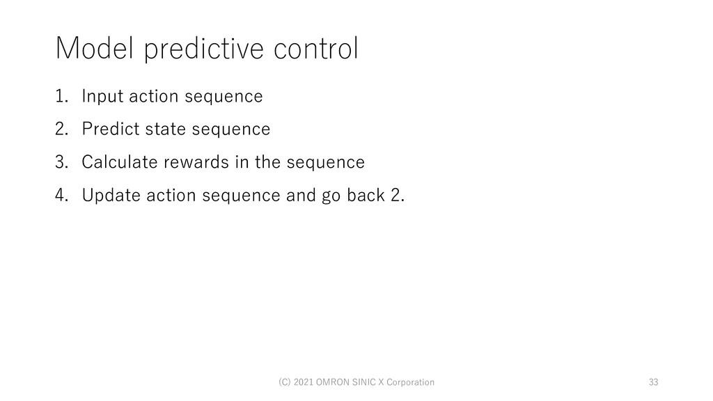 Model predictive control 1. Input action sequen...