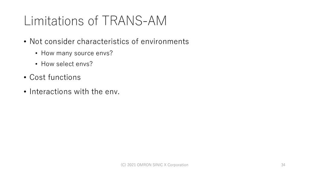 Limitations of TRANS-AM • Not consider characte...