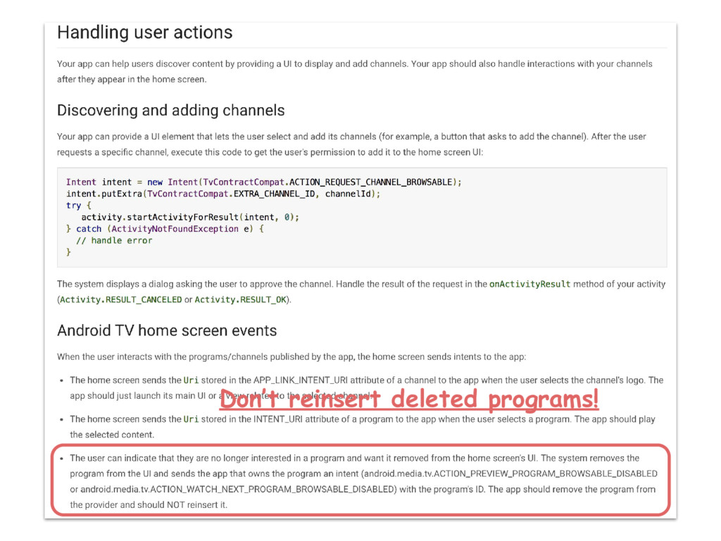 Don't reinsert deleted programs!