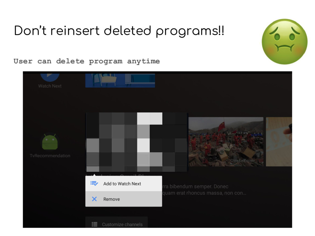 Don't reinsert deleted programs!! User can dele...