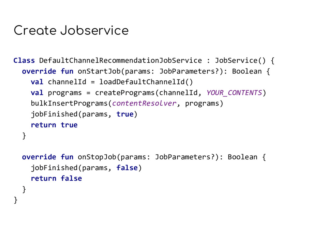 Create Jobservice Class DefaultChannelRecommend...