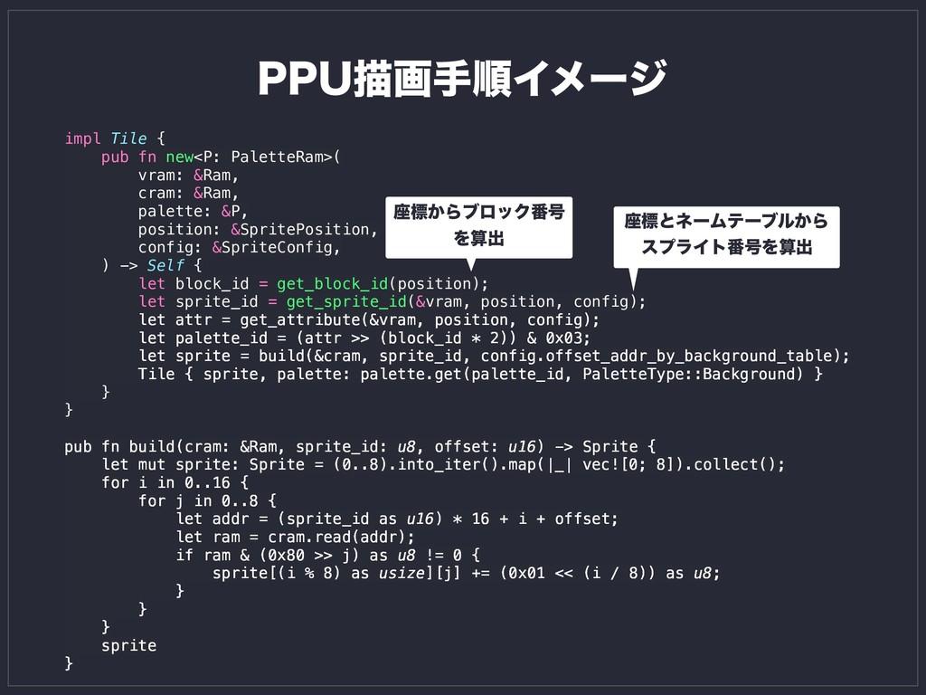 impl Tile { pub fn new<P: PaletteRam>( vram: &R...
