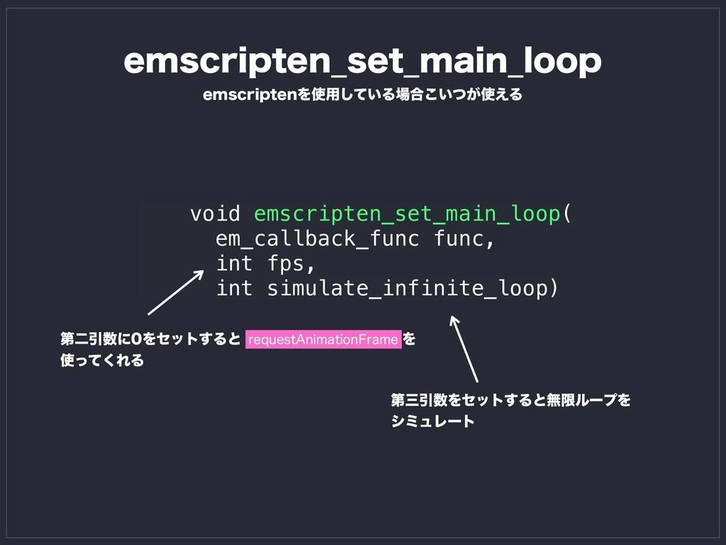 void emscripten_set_main_loop( em_callback_func...