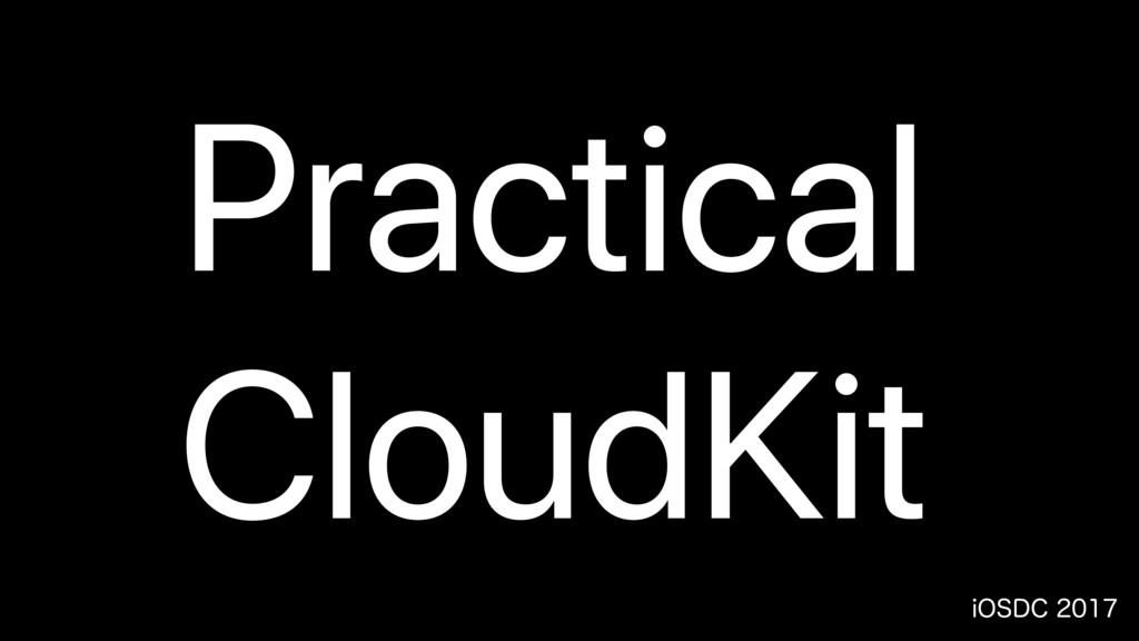 J04%$ Practical CloudKit