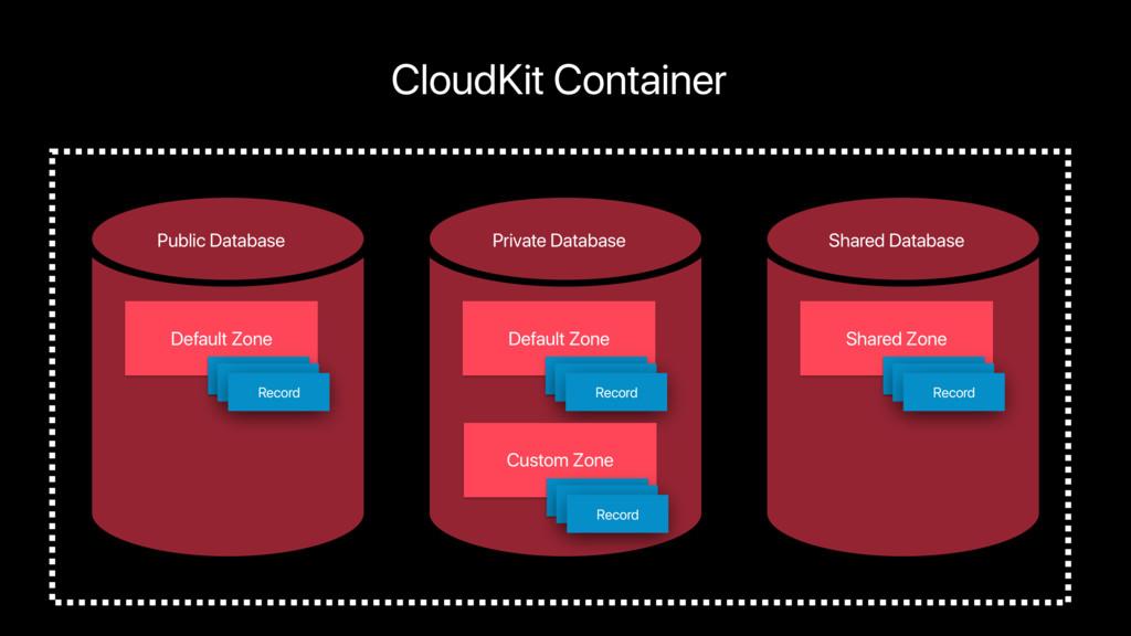 Default Zone Public Database CloudKit Container...