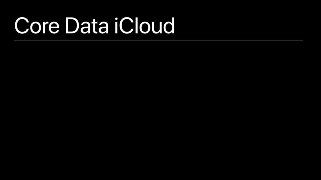 Core Data iCloud