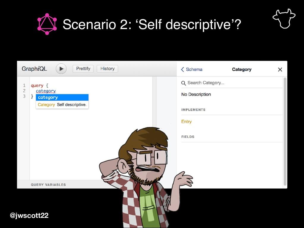 @jwscott22 Scenario 2: 'Self descriptive'?