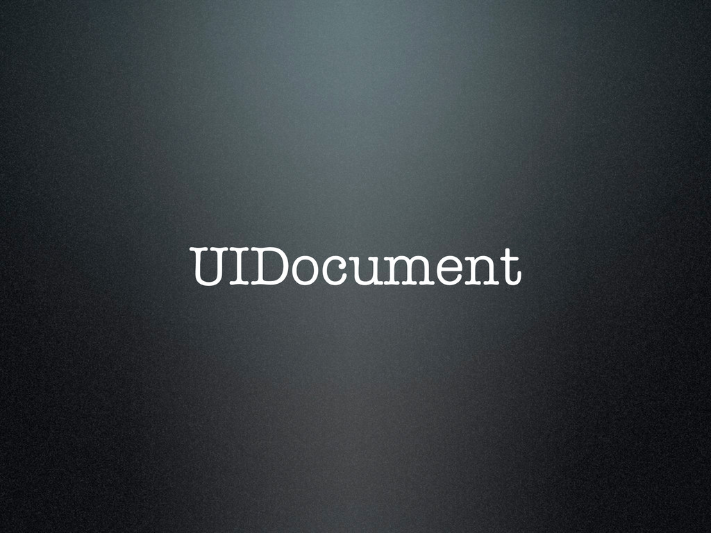 UIDocument
