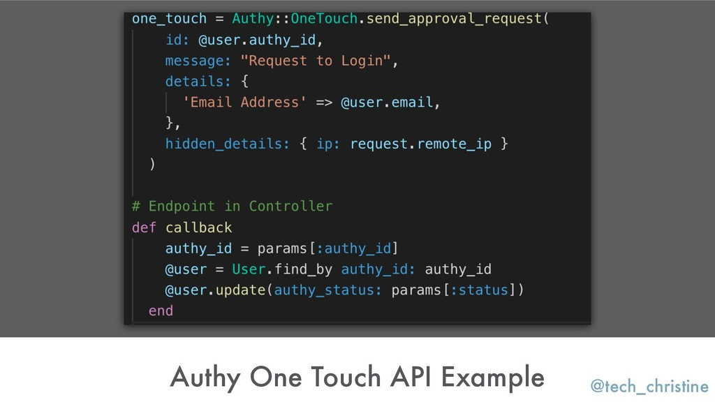 @tech_christine Authy One Touch API Example