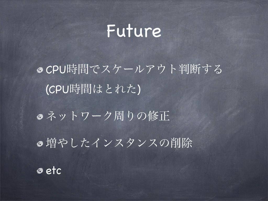 Future CPUؒͰεέʔϧΞτஅ͢Δ (CPUؒͱΕͨ) ωοτϫʔΫपΓͷम...