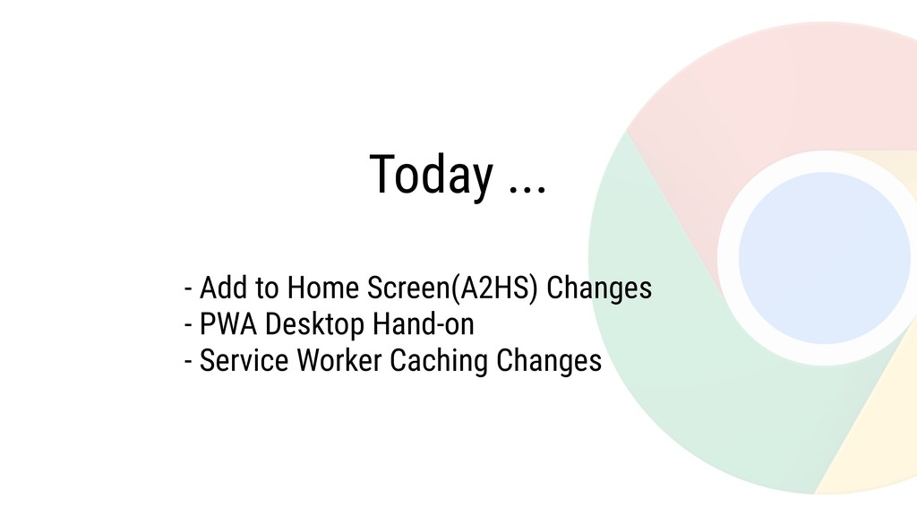 Today ... - Add to Home Screen(A2HS) Changes - ...