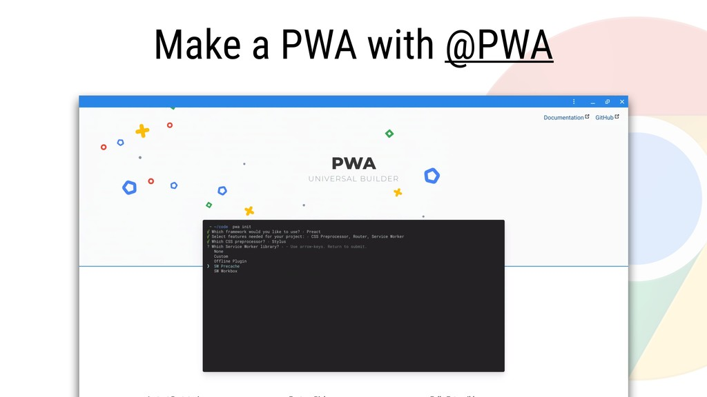 Make a PWA with @PWA
