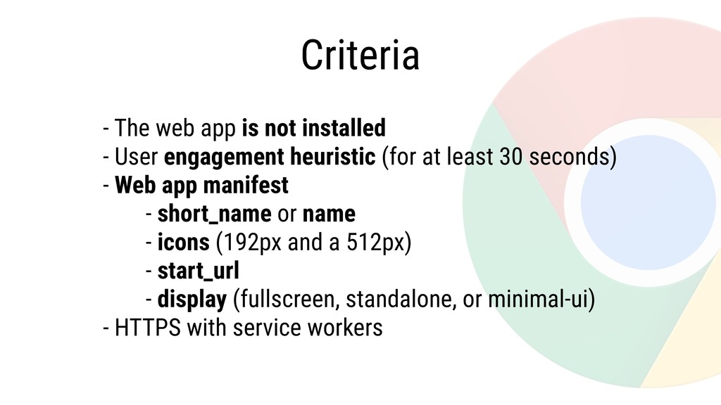 - The web app is not installed - User engagemen...
