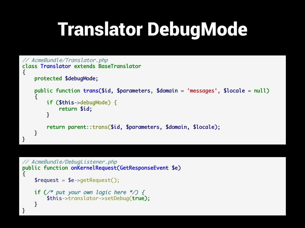 Translator DebugMode // AcmeBundle/Translator.p...