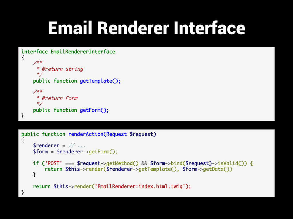 Email Renderer Interface interface EmailRendere...
