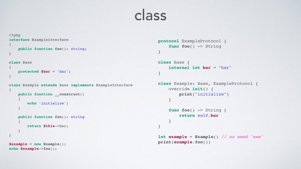 class <?php interface ExampleInterface { public...