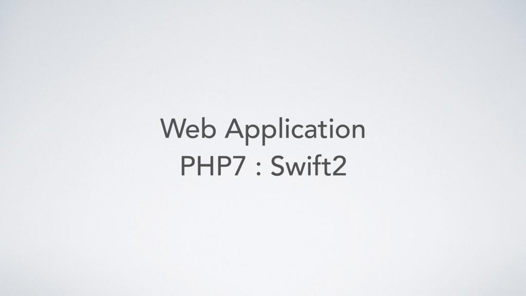 Web Application PHP7 : Swift2