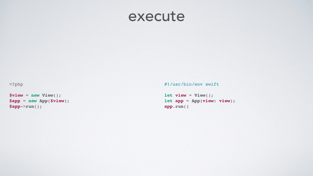 execute <?php $view = new View(); $app = new Ap...