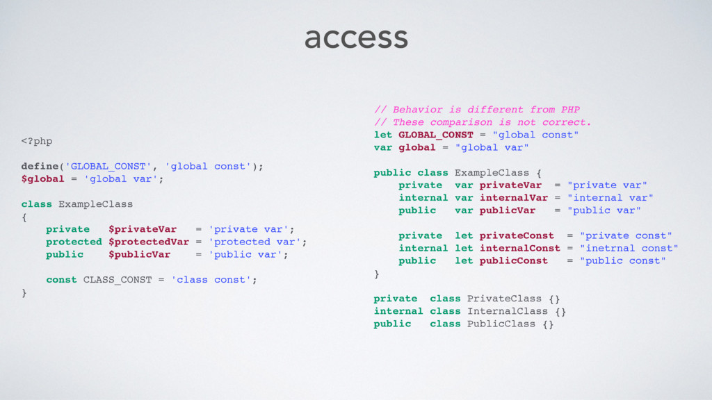 access <?php define('GLOBAL_CONST', 'global con...