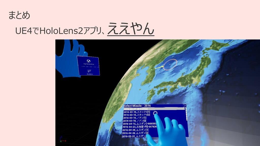 34 まとめ UE4でHoloLens2アプリ、 ええやん
