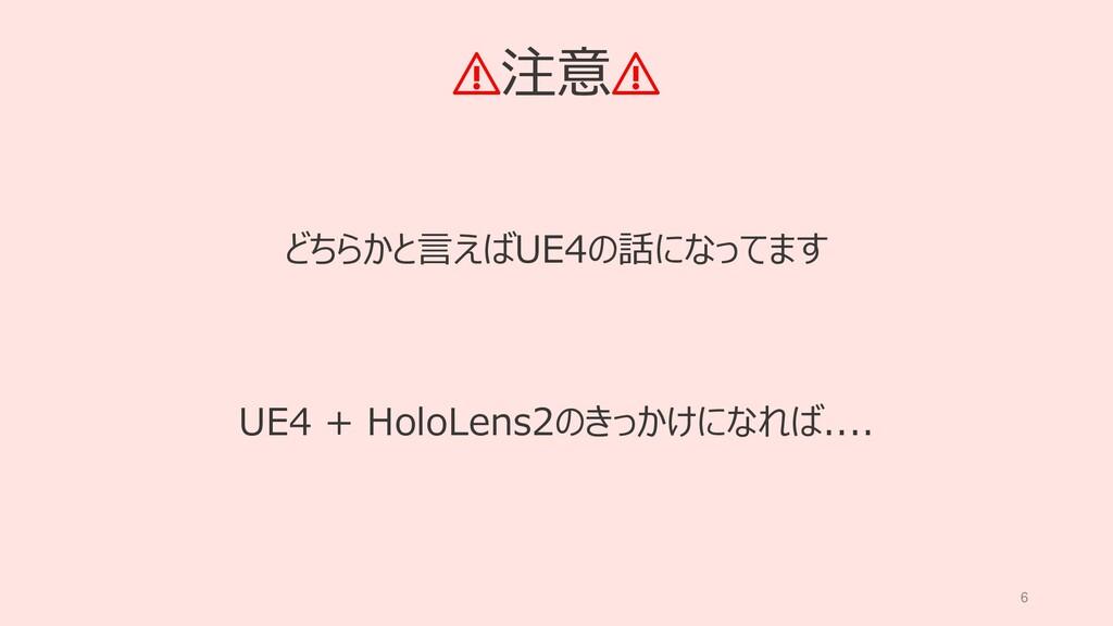6 ⚠注意⚠ どちらかと言えばUE4の話になってます UE4 + HoloLens2のきっかけ...