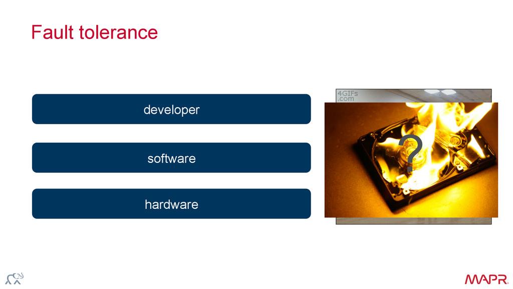 ® Fault tolerance hardware software developer ?