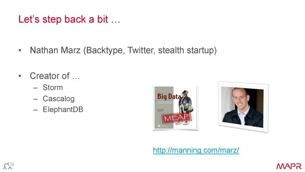® Let's step back a bit … • Nathan Marz (Backt...