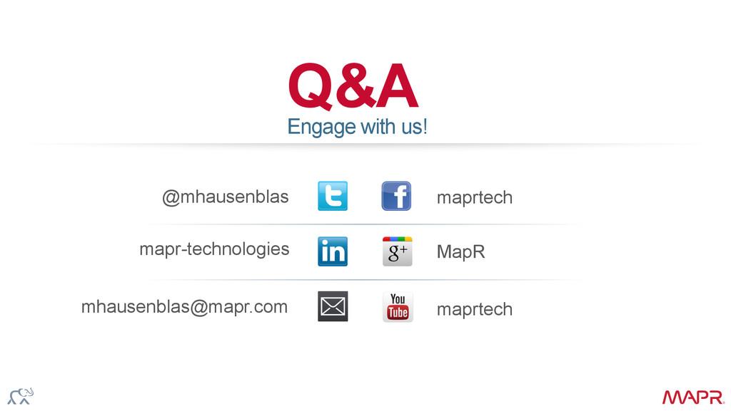 ® Q & A @mhausenblas maprtech mhausenblas@mapr....
