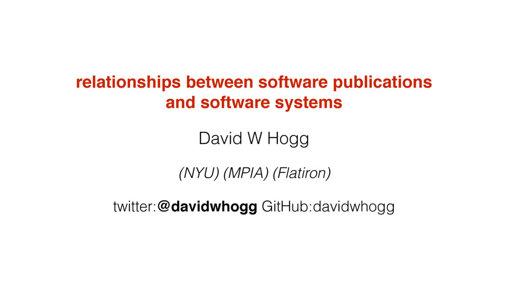 relationships between software publications and...