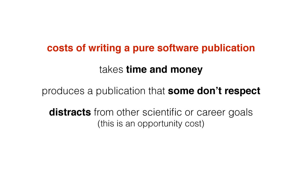 costs of writing a pure software publication ta...