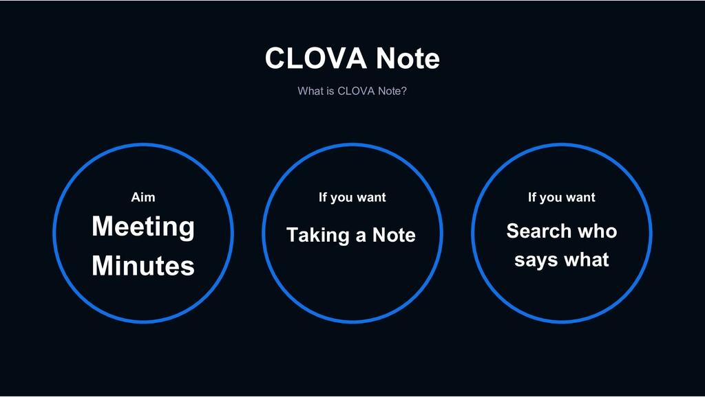 CLOVA Note What is CLOVA Note? If you want Taki...