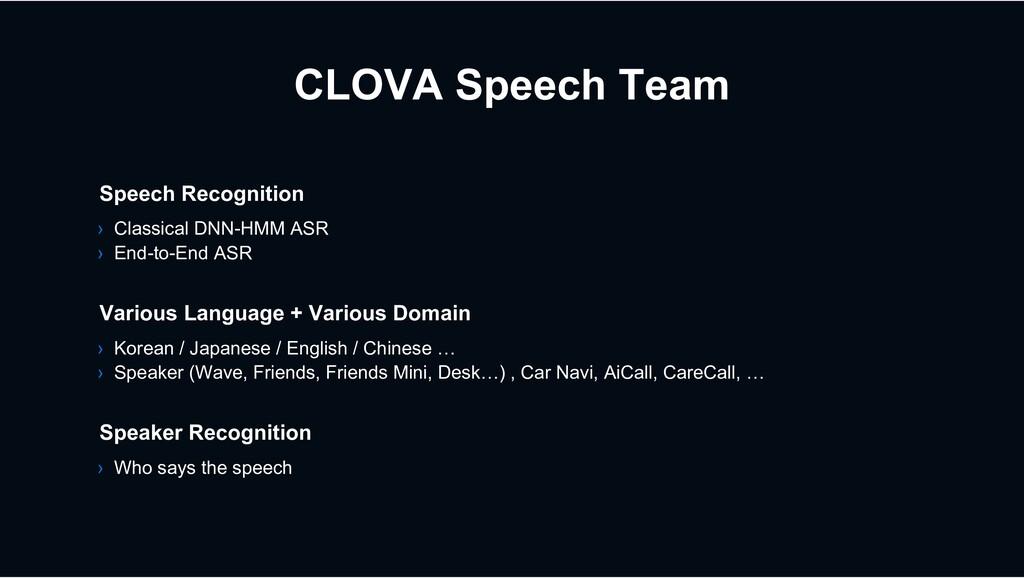 CLOVA Speech Team › Korean / Japanese / English...