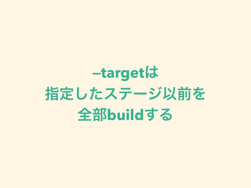 —target ࢦఆͨ͠εςʔδҎલΛ શ෦build͢Δ
