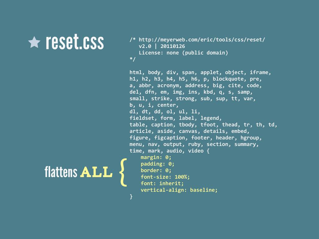 reset.css /* http://meyerweb.com/eric/tools/...