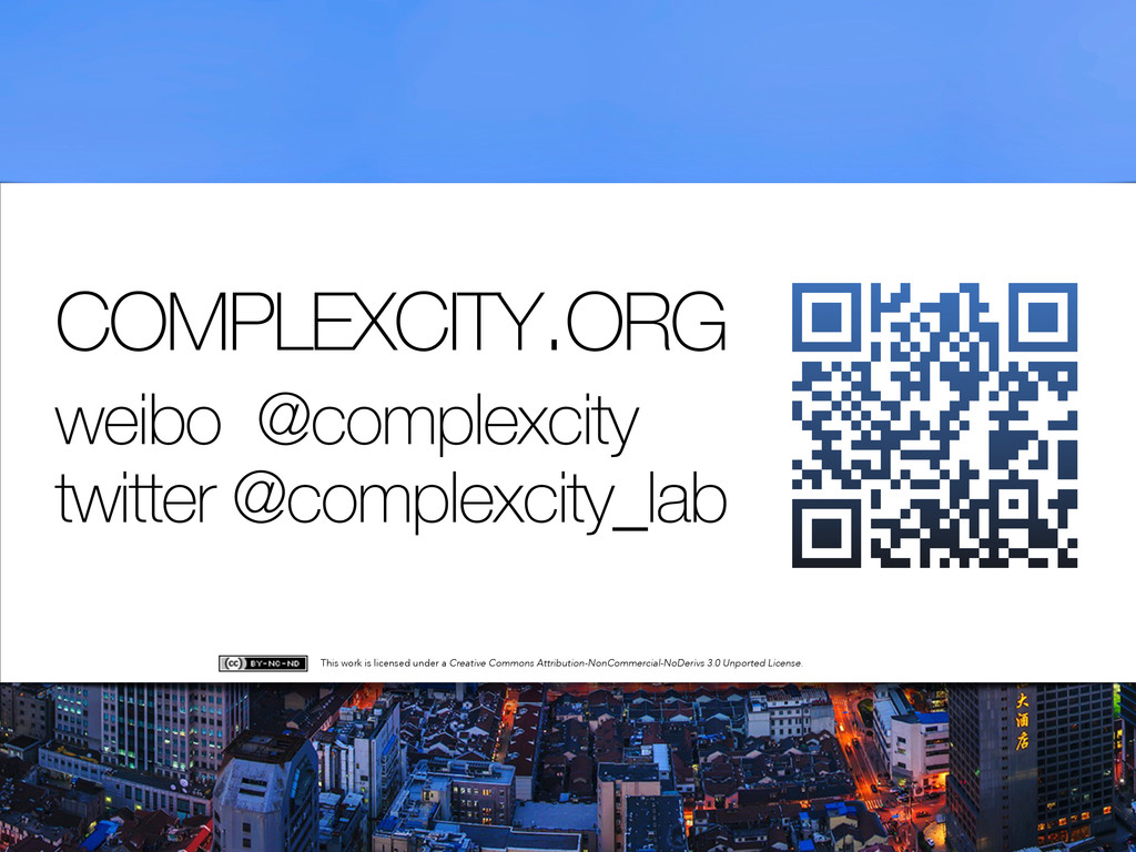 COMPLEXCITY.ORG weibo @complexcity twitter @com...