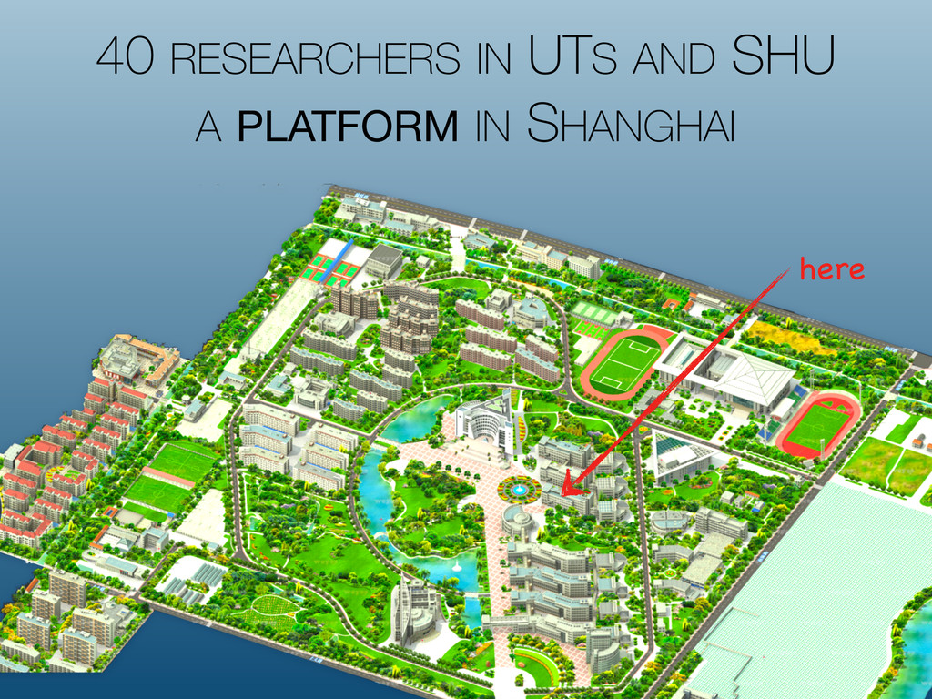 40 RESEARCHERS IN UTS AND SHU A PLATFORM IN SHA...