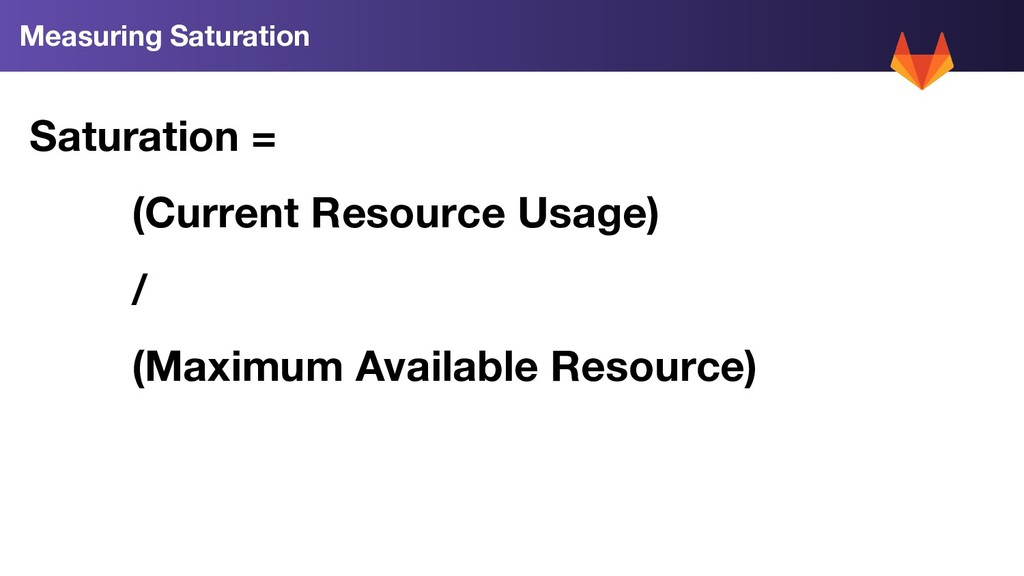 Saturation = (Current Resource Usage) / (Maximu...