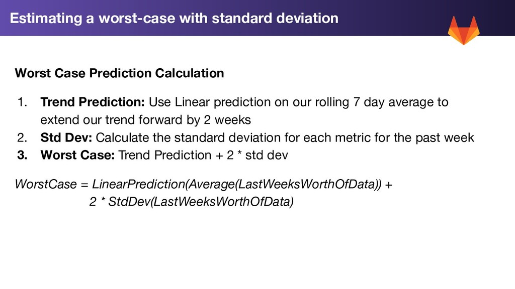 Estimating a worst-case with standard deviation...