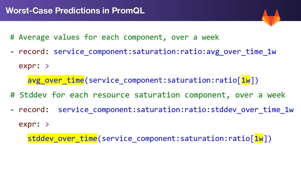 Worst-Case Predictions in PromQL # Average valu...