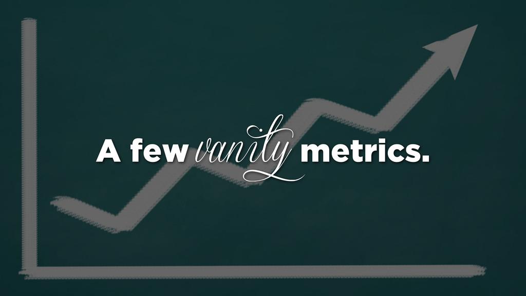 A few vanity metrics.