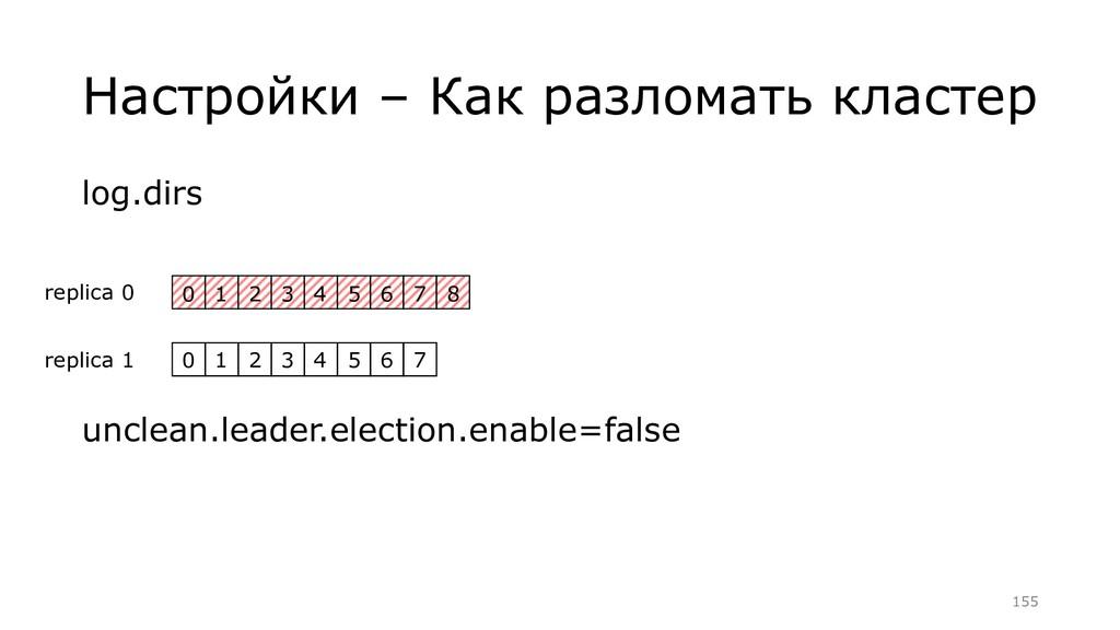 Настройки – Как разломать кластер log.dirs uncl...