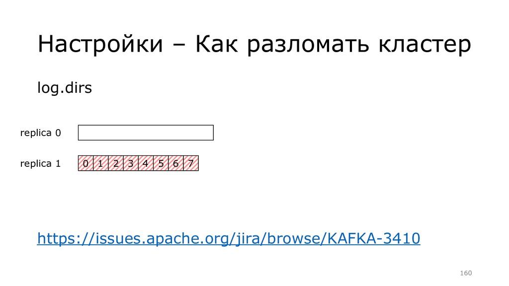 Настройки – Как разломать кластер log.dirs http...