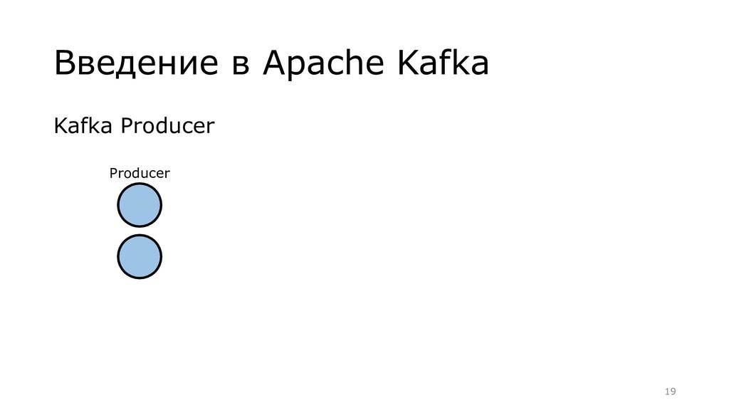 Введение в Apache Kafka Kafka Producer Producer...