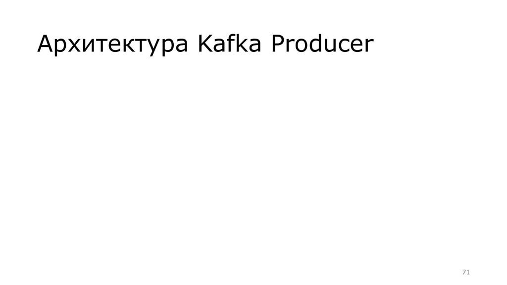 Архитектура Kafka Producer =71