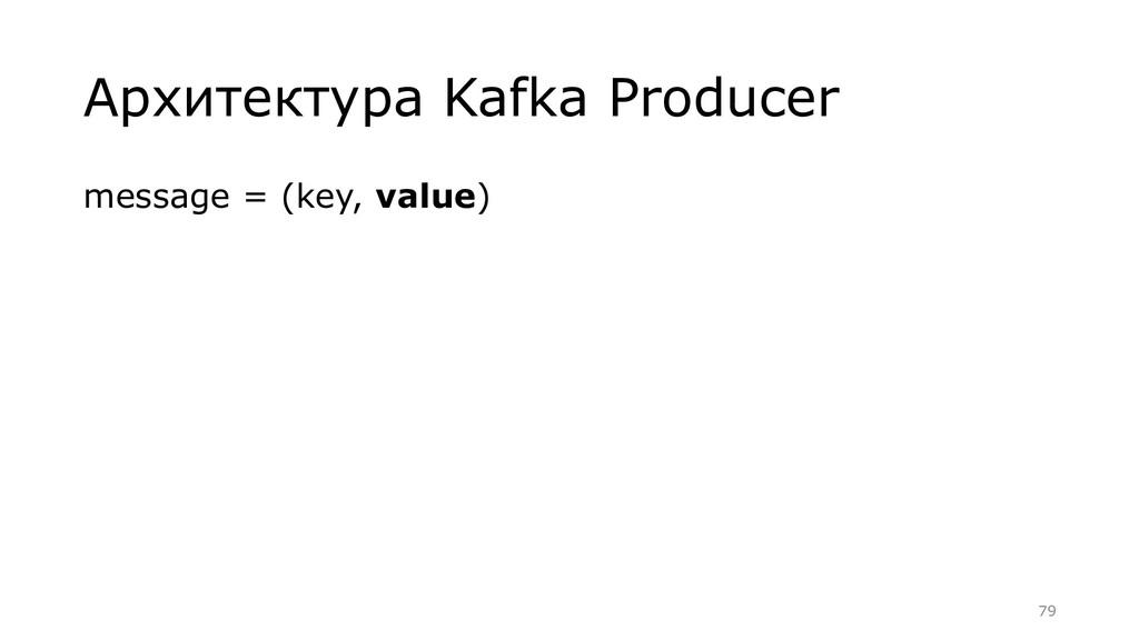 Архитектура Kafka Producer message = (key, valu...
