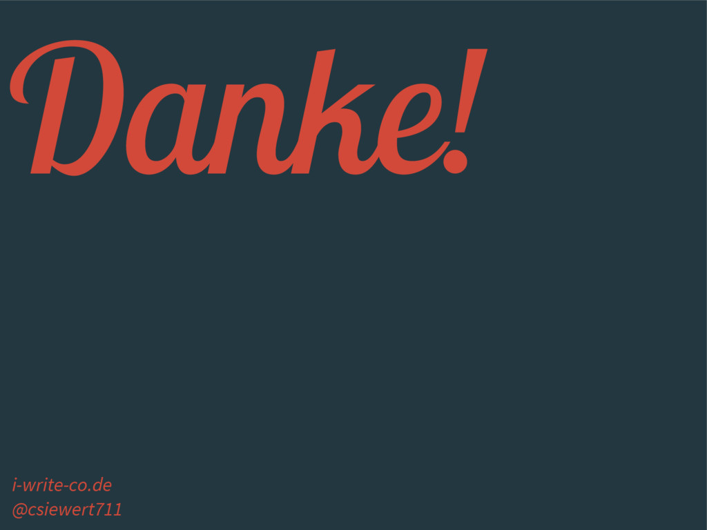 Danke! i-write-co.de @csiewert711