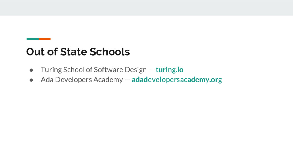 Out of State Schools ● Turing School of Softwar...