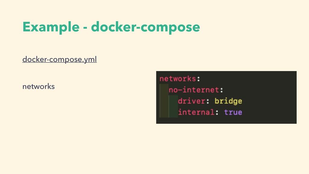 Example - docker-compose docker-compose.yml net...