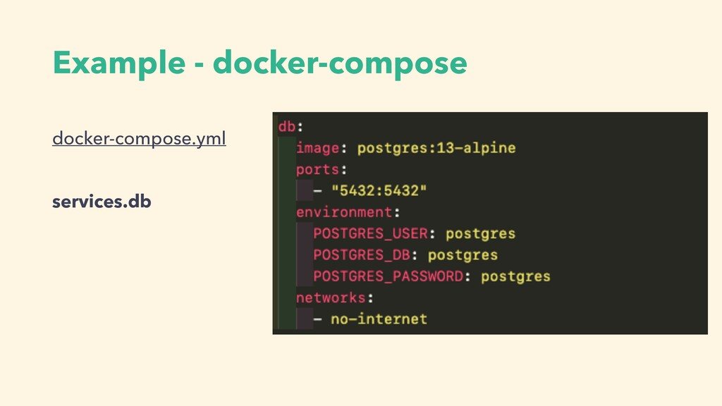 Example - docker-compose docker-compose.yml ser...